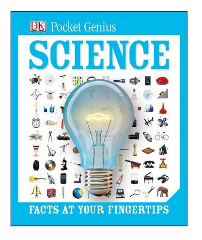 Blue softcover. pocket sized science book for beginners