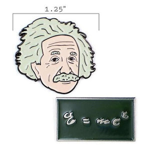 Albert Einstein & E=mc2 Pins