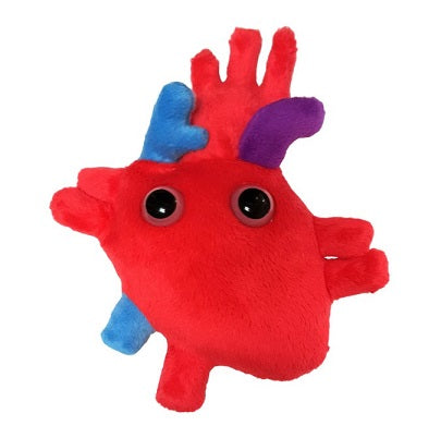 Stuffed toy of an anthropomorphized heart organ