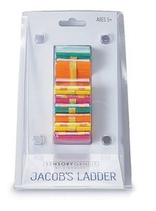 Sensory wooden fidget toy in the style of a Jacob's ladder