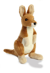 Brown plush kangaroo stuffed toy