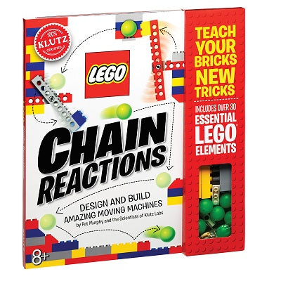 A soft cover book with wire binding across the top. The cover of the book is illustrated with one of the LEGO projects inside of the kit. The cover advertises that you can design and build amazing moving machines with the kit components.