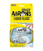 Load image into Gallery viewer, Transparent, liquid glass style putty in a tin with yellow retail packaging
