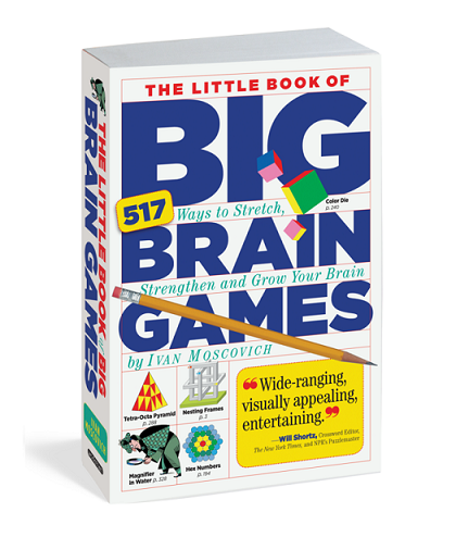 Pocket sized paperback brain teaser activity book