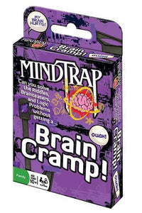 Purple pack of MindTrap brain teaser cards