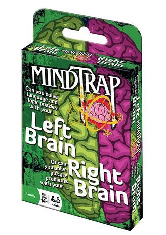 Green pack of MindTrap brain teaser cards