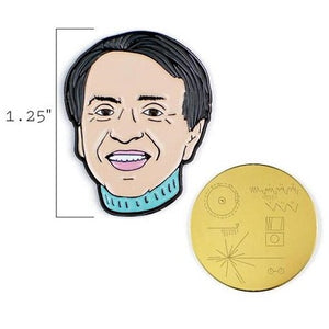 Carl Sagan & Golden Record Pins
