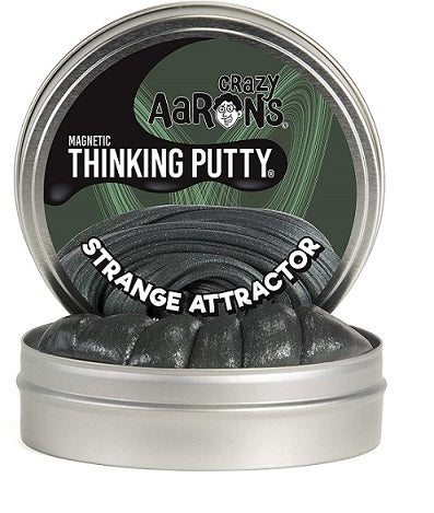 Black metallic putty in a tin