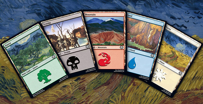 10 MTG Lands As Illustrated by Famous Painters