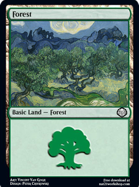 Forest Magic: The Gathering Card by Vincent Van Gogh