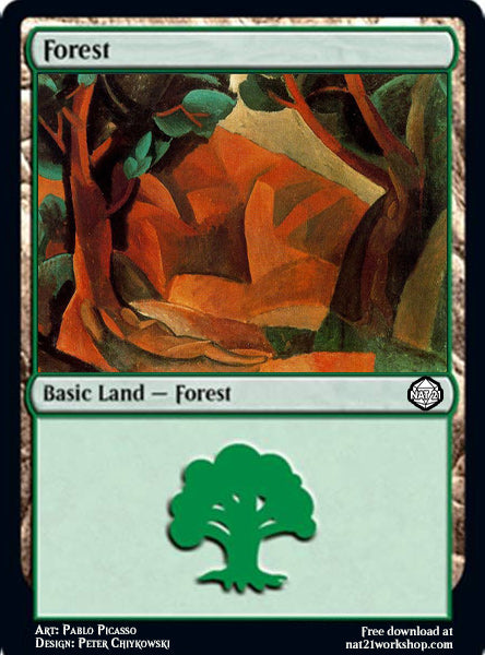 Forest Magic The Gathering Card by Pablo Picasso