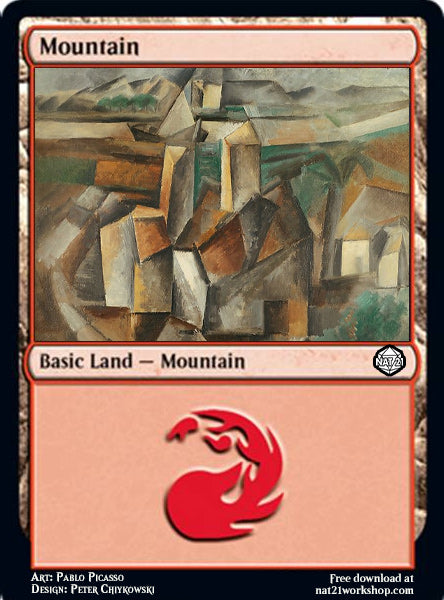 Mountain Magic: The Gathering Card by Pablo Picasso