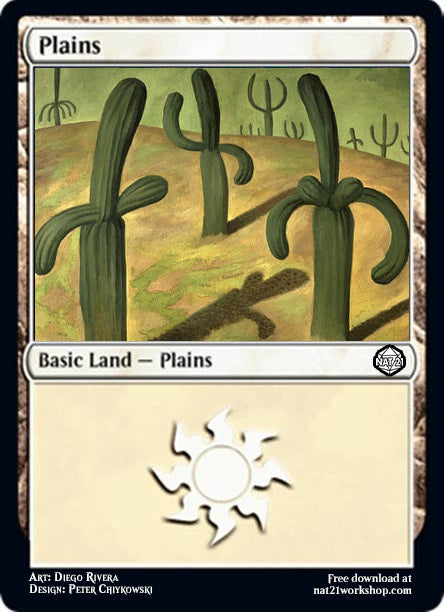 Diego River's Landscape with Cacti as a Plains Card