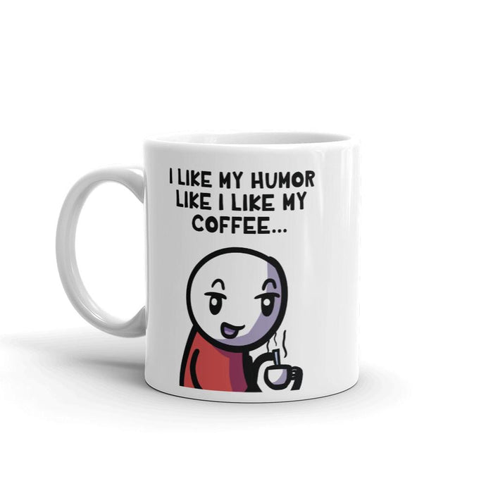 Black Coffee/Black Humor Mug - Nat 21 Workshop