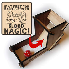 Load image into Gallery viewer, Blood Magic Dice Tower - Nat 21 Workshop