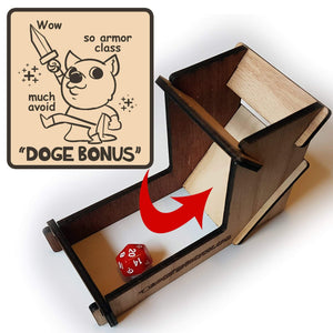 Doge Bonus Dice Tower - Nat 21 Workshop