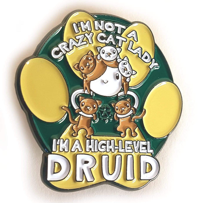 Druid Cat Lady Pin - Nat 21 Workshop