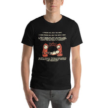 Load image into Gallery viewer, Friends Help Friends Necromancy T-Shirt - Nat 21 Workshop