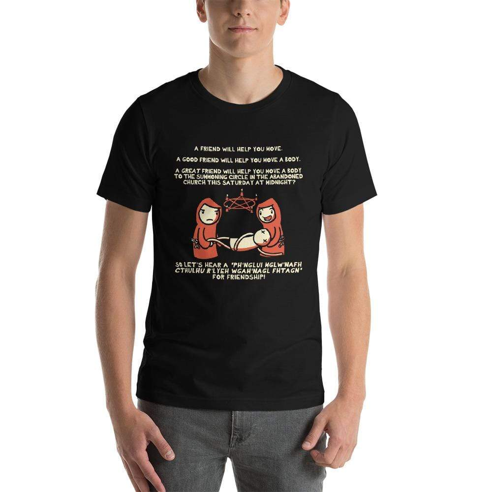 Friends Help Friends Necromancy T-Shirt - Nat 21 Workshop