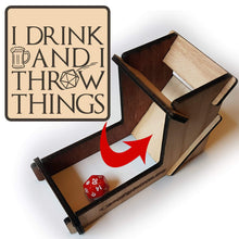 Load image into Gallery viewer, I Drink & I Throw Things Dice Tower - Nat 21 Workshop