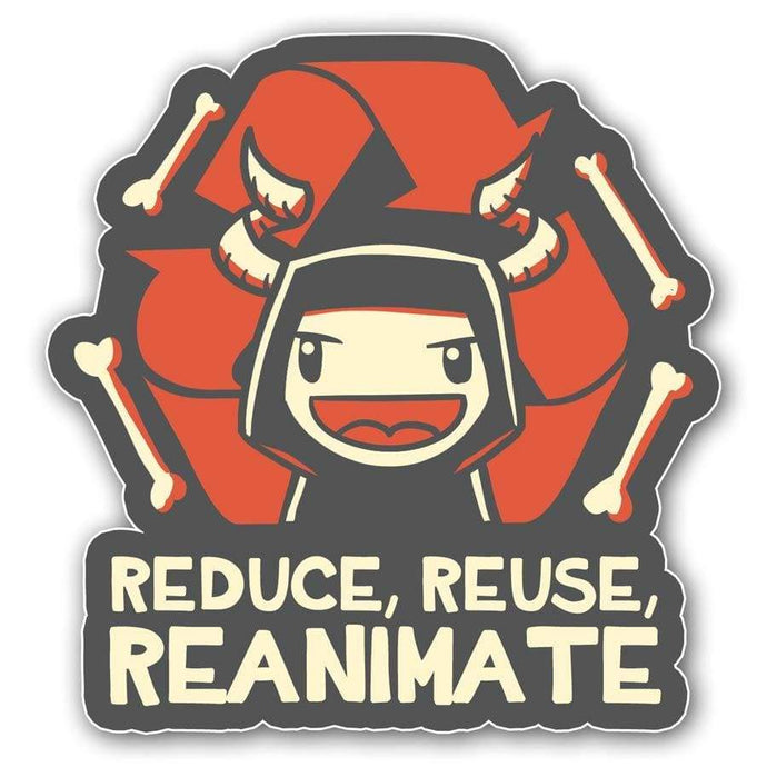 Reduce Reuse Reanimate Sticker - Nat 21 Workshop