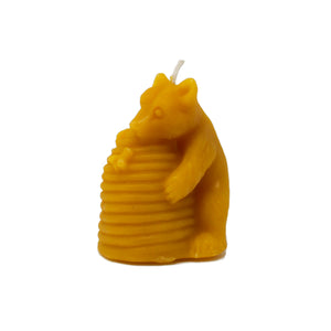 Beeswax Bear and Hive Votive Candle