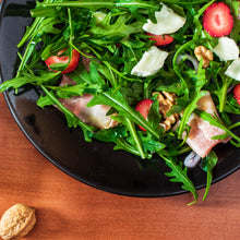Load image into Gallery viewer, Strawberry arugula salad with candied walnuts