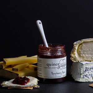 Pair our Raspberry Rose raspberry jam with soft creamy cheeses, nutty Gruyere or sweet blues.