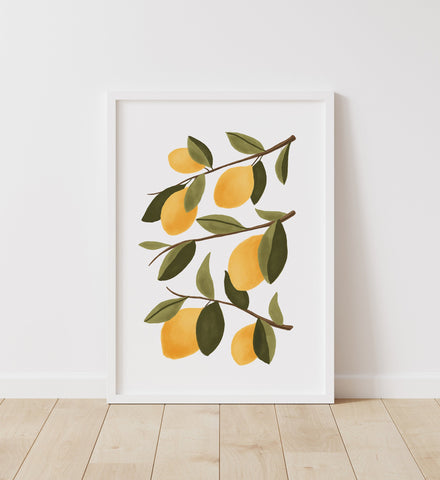Lemon Botanical Print