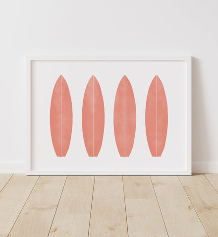 Coral Surfboards Print