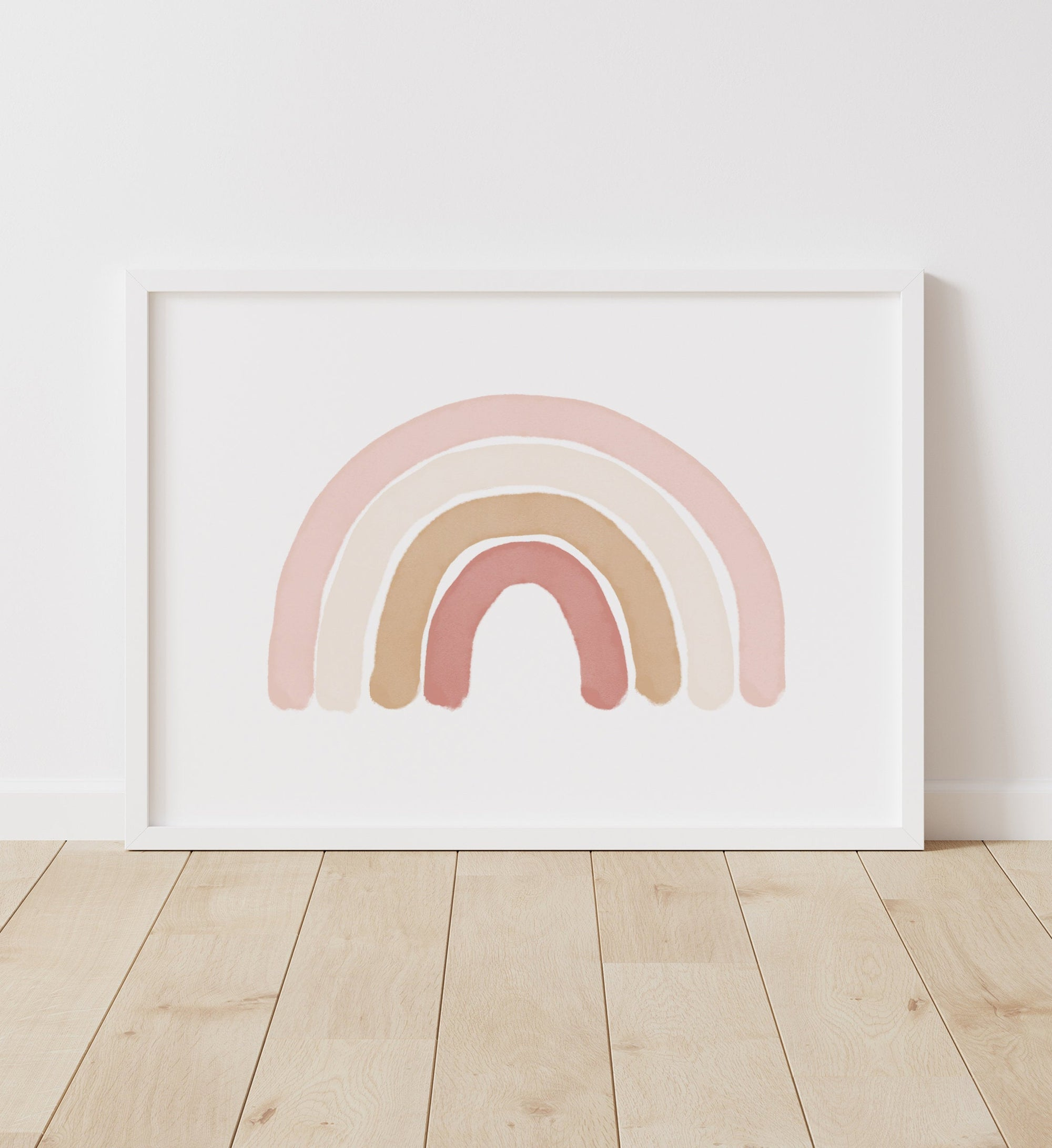 Lanscape Rainbow - Pink and Neutral