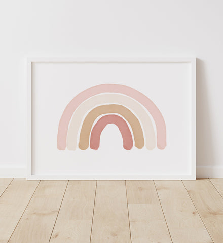Neutral Rainbow Print - Landscape