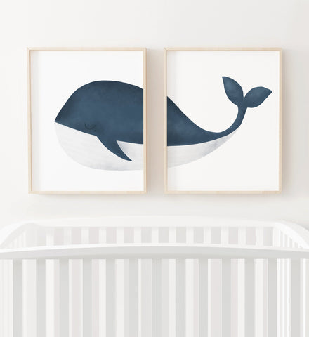 Blue Whale Set of 2 Prints