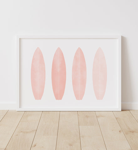 Pink Surfboards Print