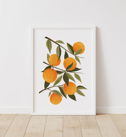 Orange Botanical Print