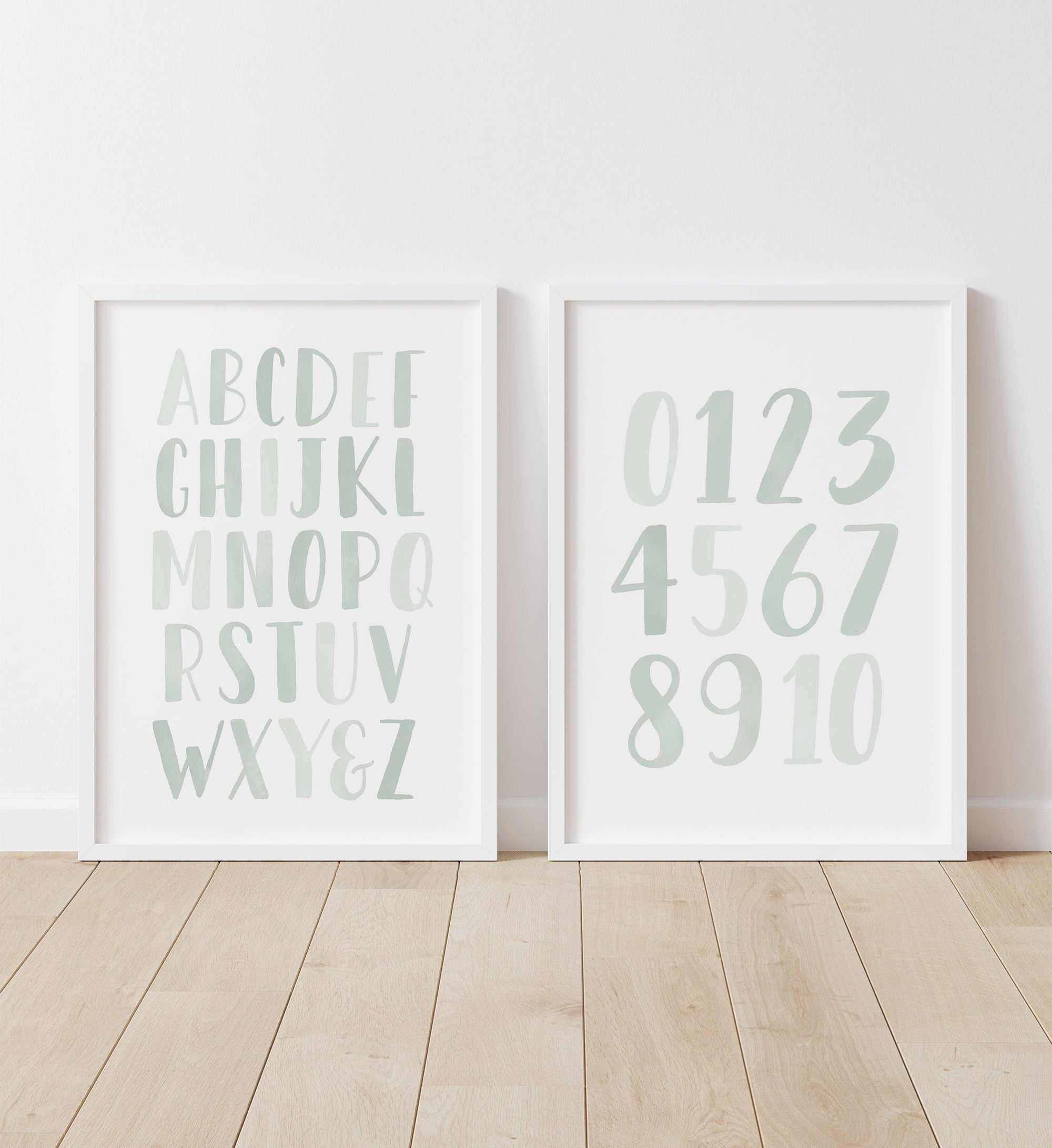 Alphabet and Numbers - Mint