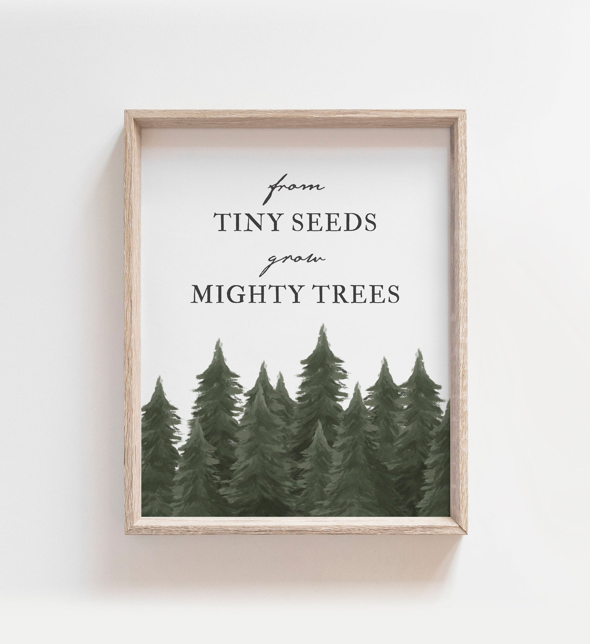 From Tiny Seeds Grow Might Trees