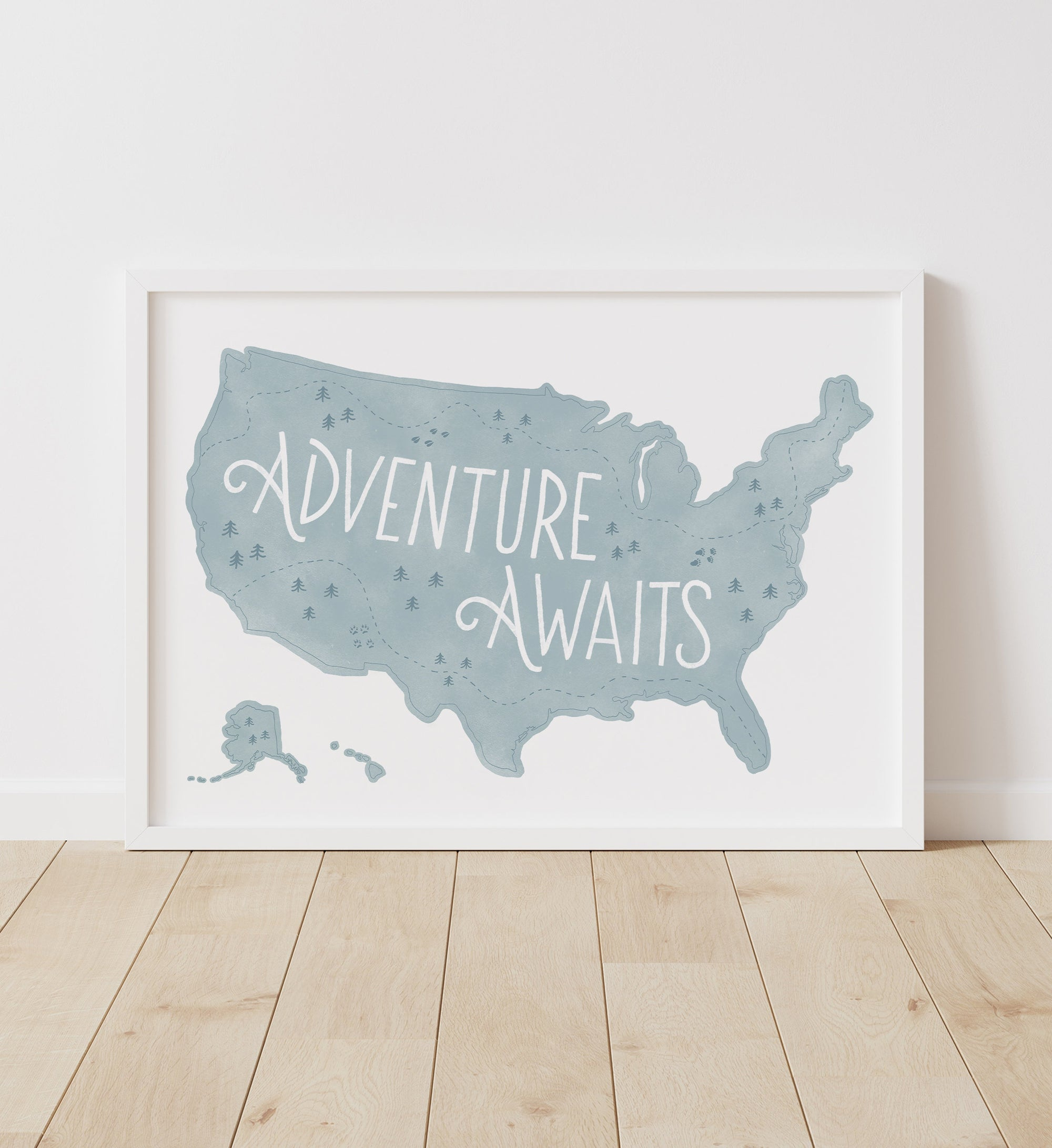 Adventure Awaits Map - Blue