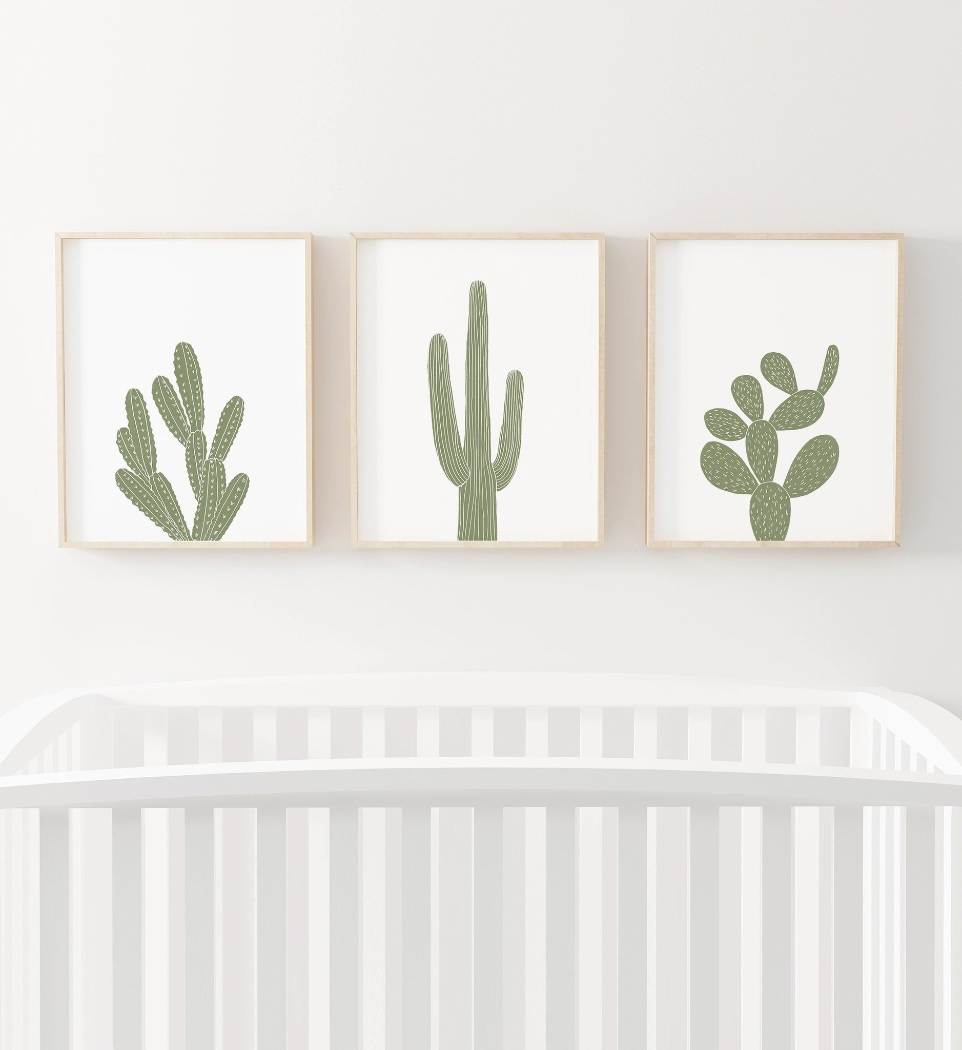 Green Cactus Set of 3 Prints
