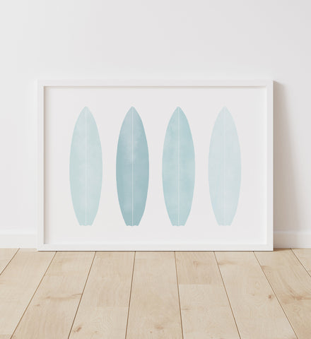 Blue Surfboards Print