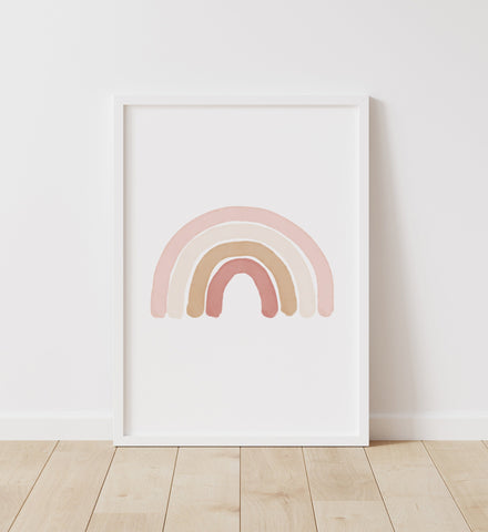 Neutral Rainbow Print - Portrait