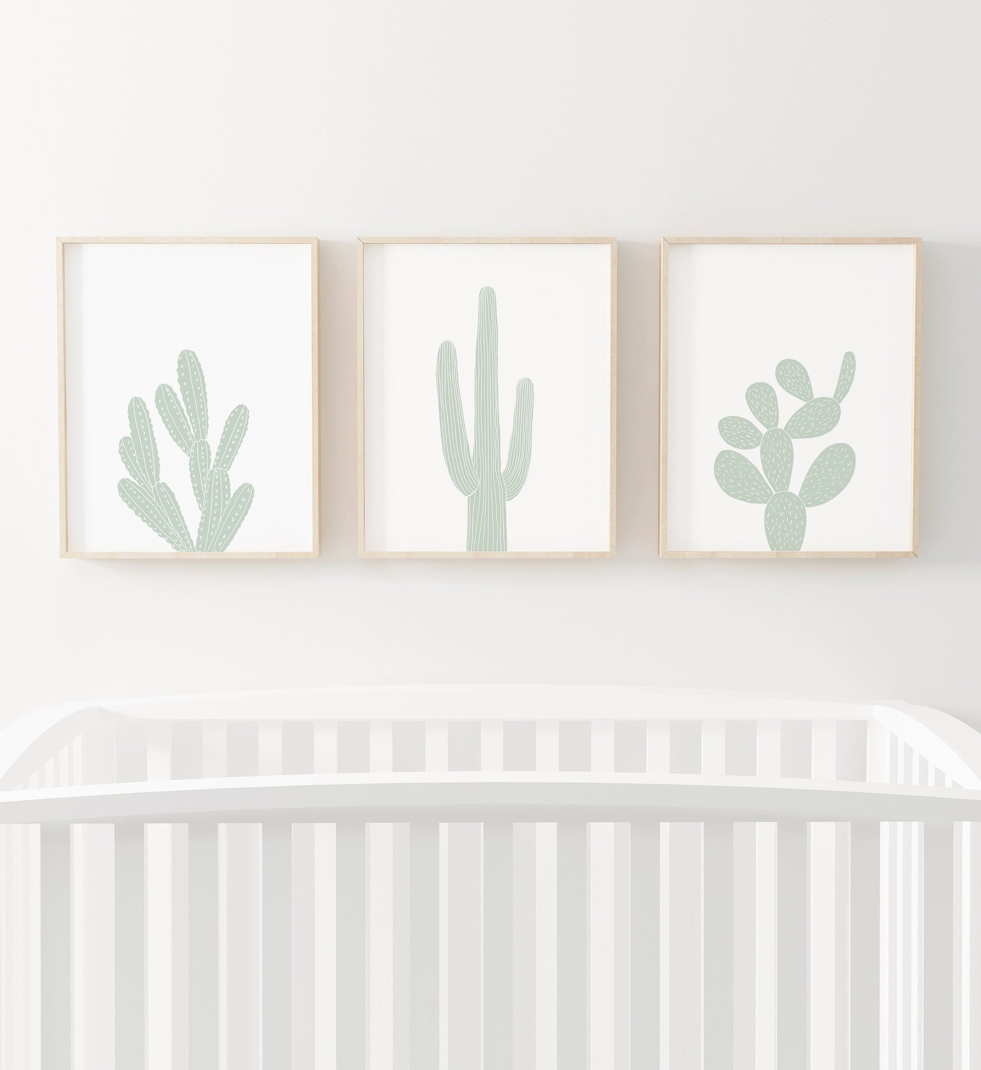 Set of 3 Cacti - Mint
