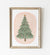 Green Christmas Tree Print