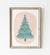 Teal Christmas Tree Print