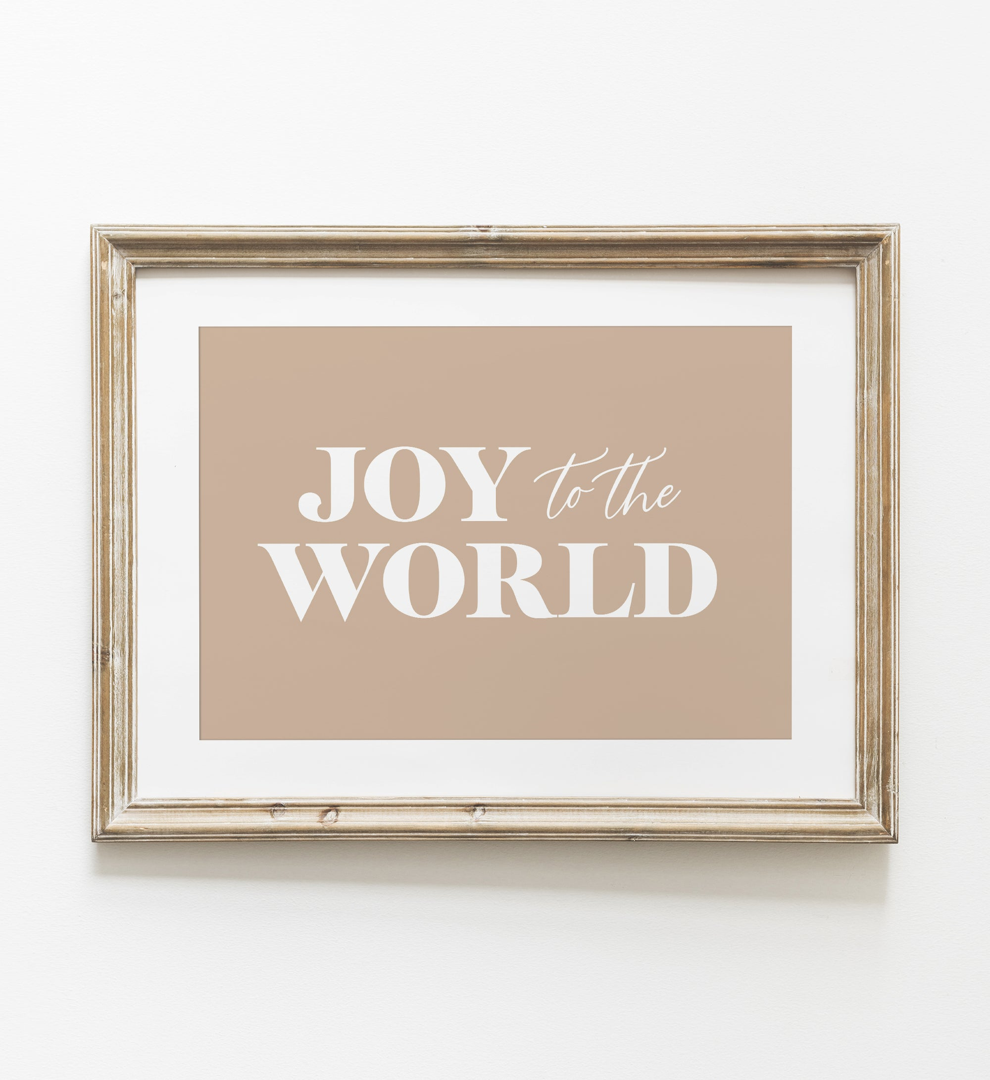 Gold Joy to the World Print