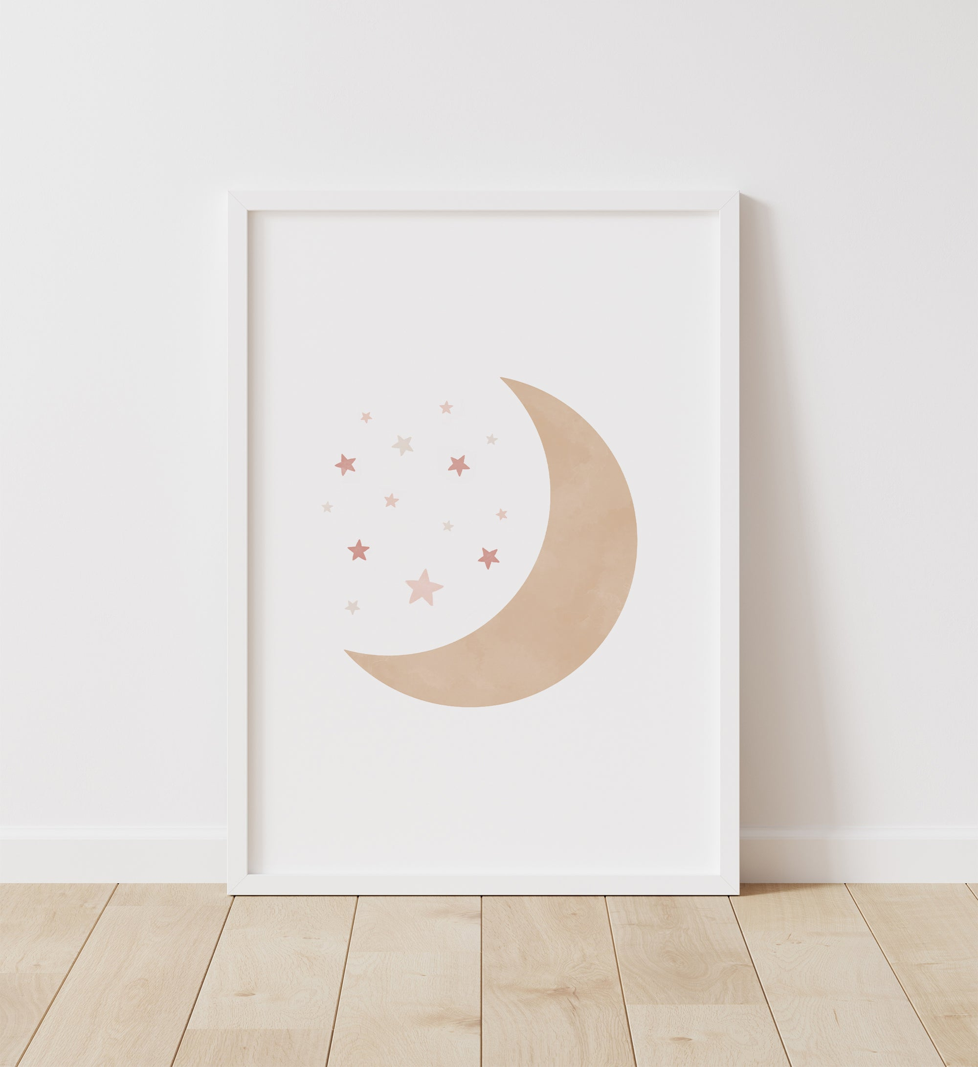 Moon and Stars - Pink and Neutral