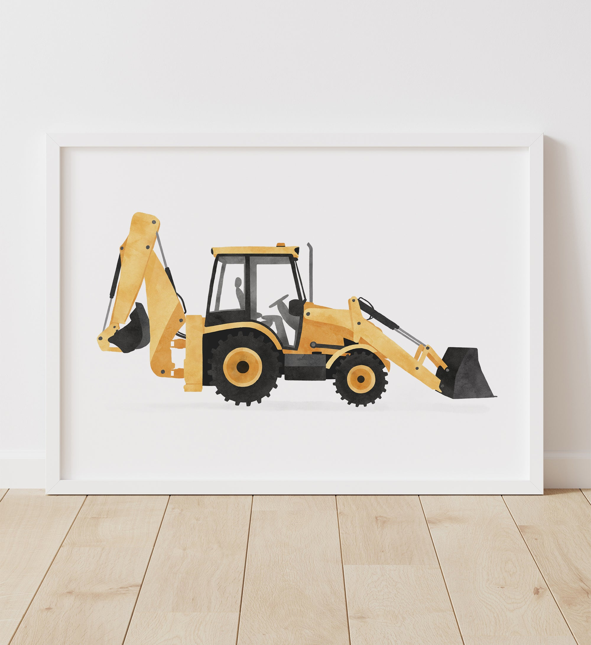 Backhoe Loader - Yellow