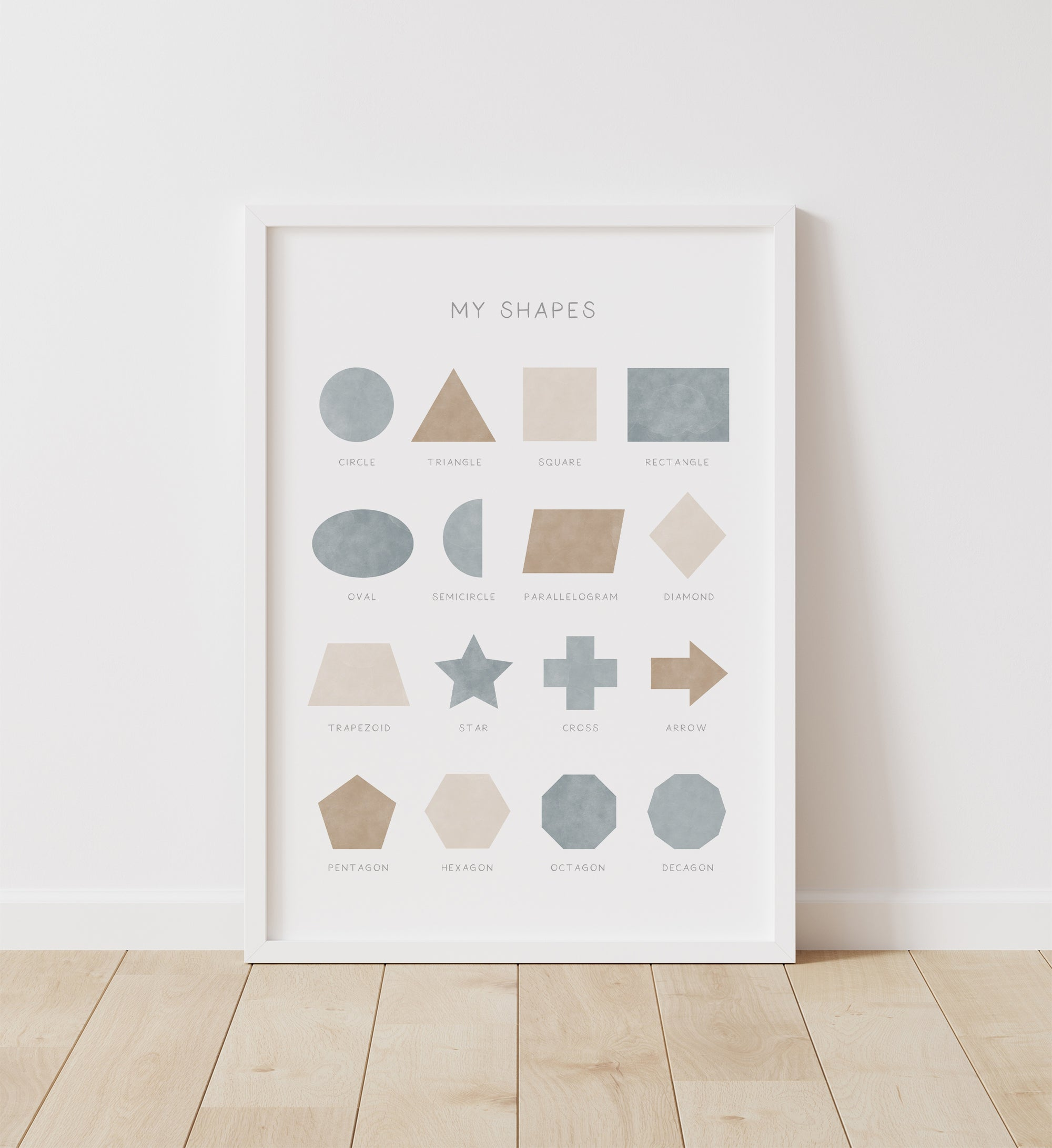 Shapes - Blue and Neutral