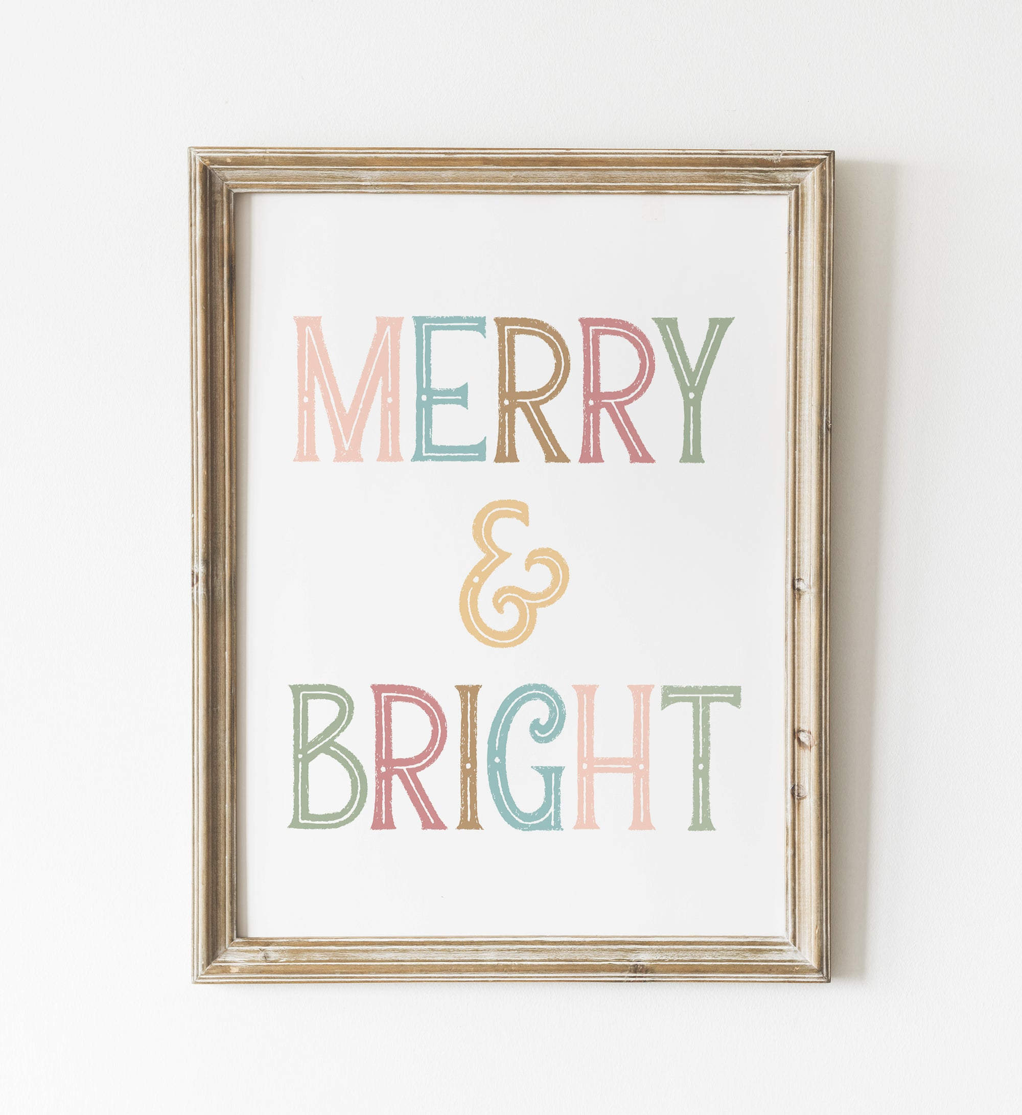 Colorful Merry & Bright Print