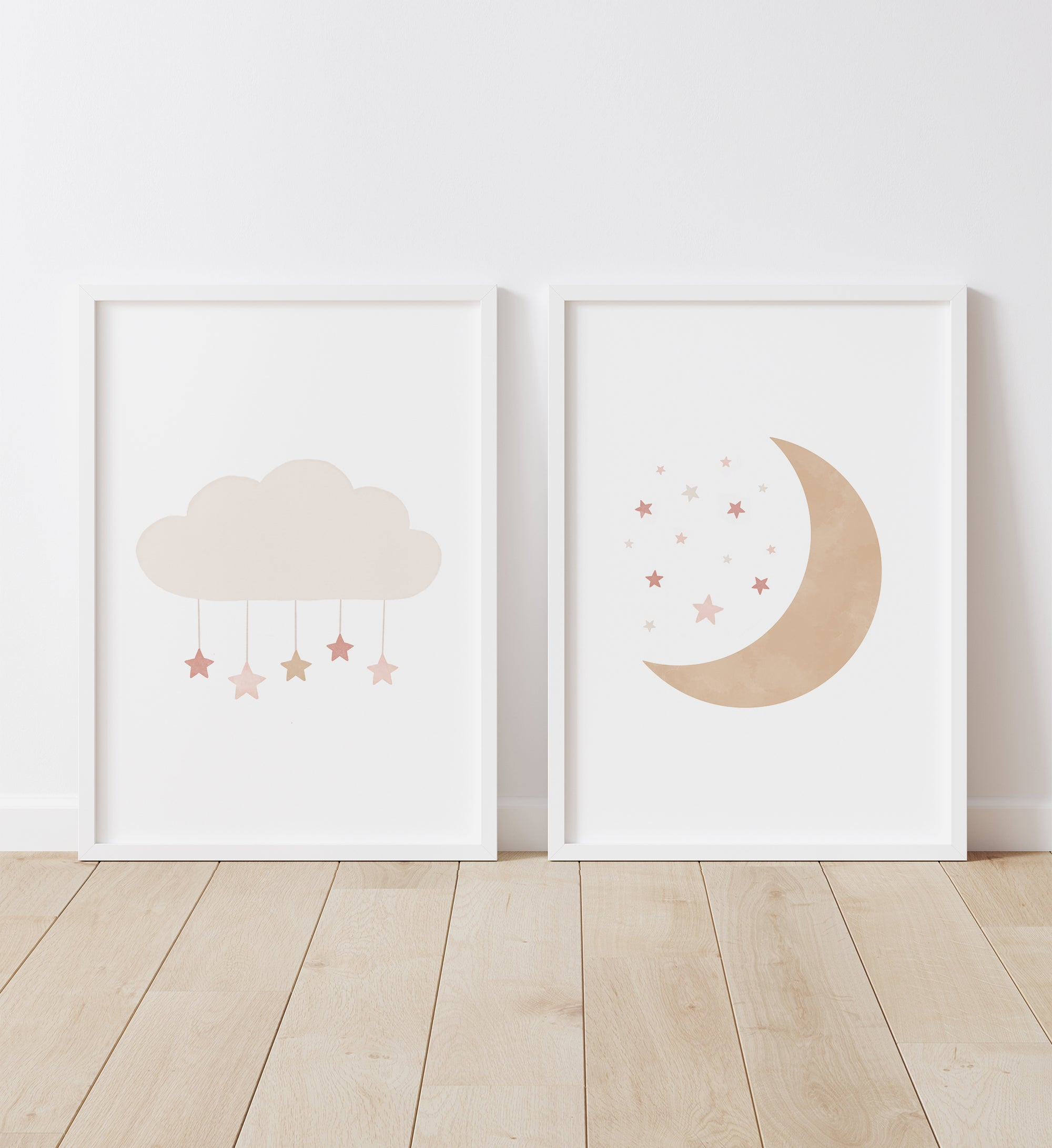 Cloud and Moon - Pink and Neutral